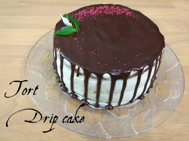 torcik cytrynowy drip cake