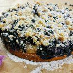 Ciasto drożdżowe z jagodami i kruszonką bez wyrabiania
