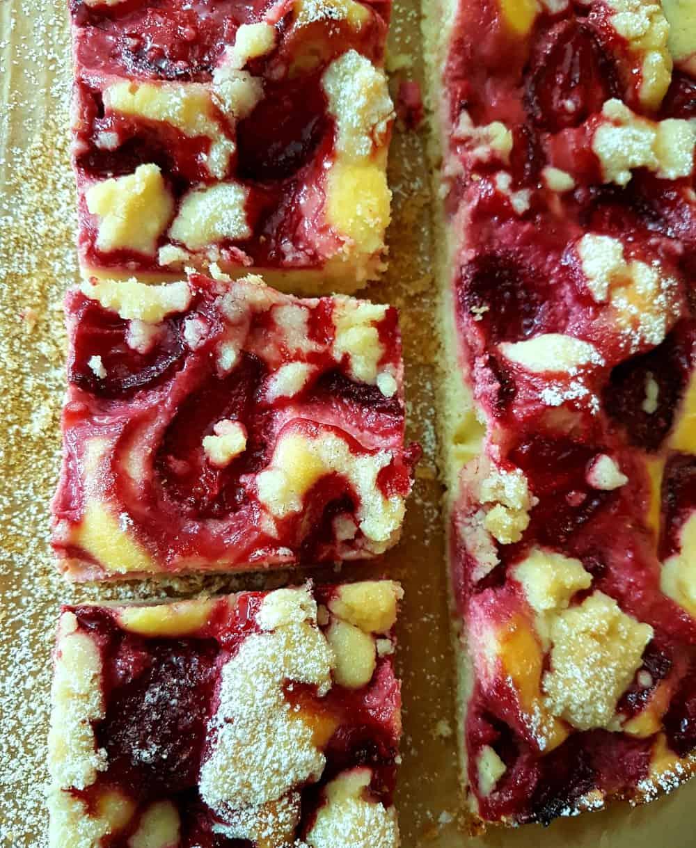 ciasto serem z owocami blog